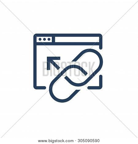 Website Link & Connectedness Icon - With A Chain Link