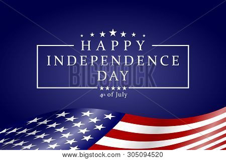 Happy Independence Day - Fourth Of July Background. Fourth Of July Design. Usa Independence Day Bann
