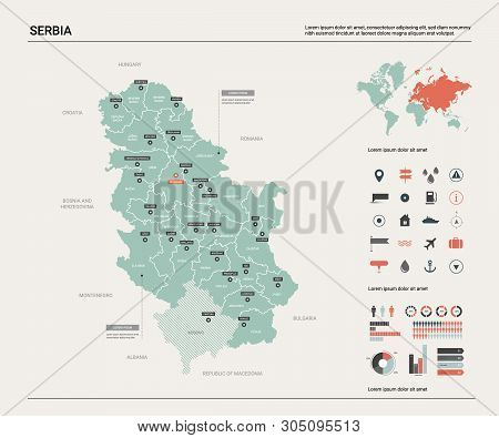 Vector Map Serbia. Vector & Photo (Free Trial) | Bigstock on dominica country map, british virgin islands country map, greenland country map, uzbekistan country map, montenegro country map, czech country map, republic of georgia country map, hungarian country map, serbian flag map, gabon country map, vatican country map, burkina faso country map, togo country map, kyrgyzstan country map, world map, u.s. country map, georgia country on a map, turkestan country map, curaçao country map, gambia country map,