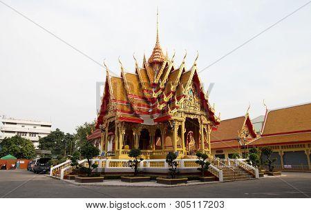 Bangkok, Thailand, January, 11, 2019 - Mahabut Temple, Maha But Temple, Mae Nak Shrine, Bangkok, Tha