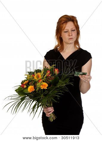 Woman Is Wondering Who Sent Her Flowers?