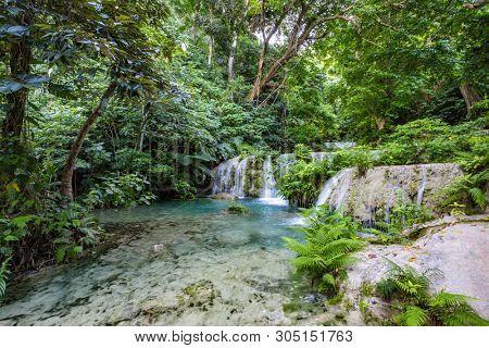 Stunning Mele Maat Cascades in Port Vila, Efate Island, Vanuatu, South Pacific