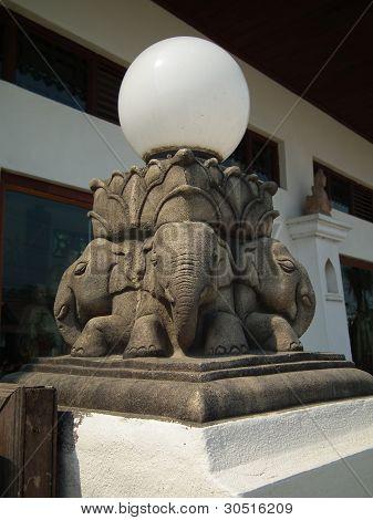 Elephant Sculpture Lantren