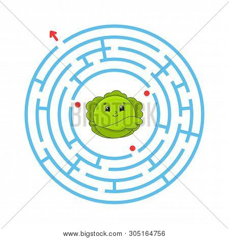 Maze. Game for kids. Funny labyrinth. Education developing worksheet. Activity page. Puzzle for children. Cute cartoon style. Riddle for preschool. Logical conundrum. Color vector illustration. poster