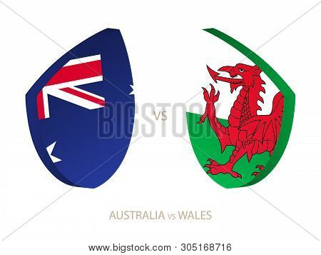 Australia V Wales, Icon For Rugby Tournament. Rugby Vector Icon.