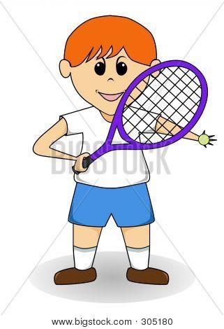 Cartoon Boy - Tennis