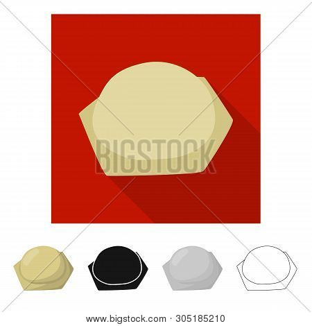Vector Design Of Pierogi And Ravioli Symbol. Set Of Pierogi And Tortellini Vector Icon For Stock.