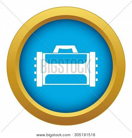 Welding Machine Icon Blue Vector Isolated On White Background For Any Design