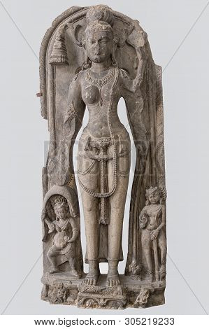 Archaeological Sculpture Of Tara Appears As A Female Bodhisattva In Mahayana Buddhism, And As A Fema