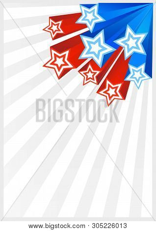 Patriotic Background American Flag Color. American Patriotic Backgrounds With Stars And Balloons. Ve