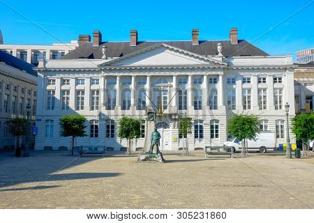 Place Des Martyrs, Brussels, Belgium, May 2019,  Martyrs Square At Place Des Martyrs In Brussels, Be