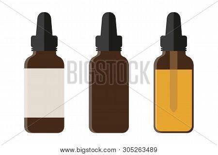 Set Of Medical Phial Isoladet On White Background Vector Illustration Eps10