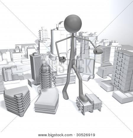 Stickman - City