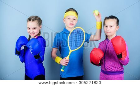 Ways To Help Kids Find Sport They Enjoy. Friends Ready For Sport Training. Sporty Siblings. Child Mi