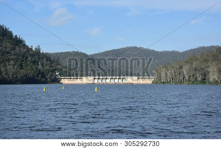 The Somerset Dam Is A Mass Concrete Gravity Dam With A Gated Spillway Across The Stanley River In Qu