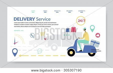 Delivery Service, Creative Website Template, Flat Design Vector Illustration