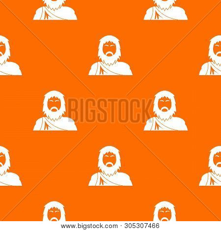 Neanderthal Pattern Vector Orange For Any Web Design Best