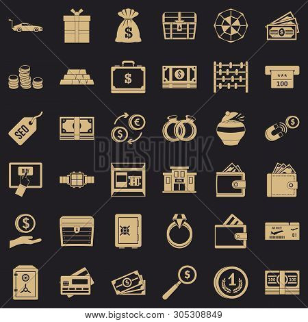 Quantity Of Money Icons Set. Simple Set Of 36 Quantity Of Money Vector Icons For Web For Any Design