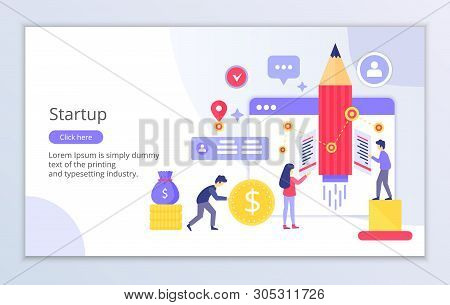 Creative Website Template Of Startup Concept, Modern Flat Design Vector Illustration, For Graphic An