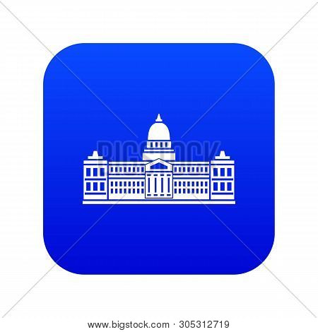 Palace Of Congress In Buenos Aires, Argentina Icon Digital Blue For Any Design Isolated On White Vec