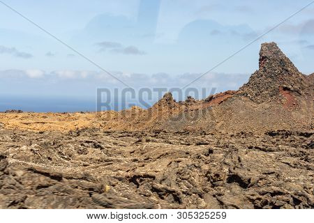 Amazing Volcanic Landscape In Timanfaya National Park, Lanzarote, Canary Islands, Spain