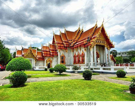 The Marble Temple in Thailand name watbencha poster
