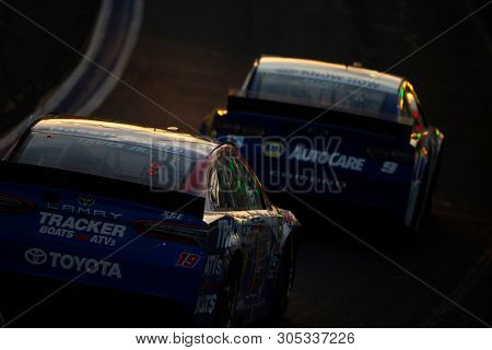 May 26, 2019 - Concord, North Carolina, USA: Martin Truex Jr. (19) races for the lead during the Coca-Cola 600 at Charlotte Motor Speedway in Concord, North Carolina.