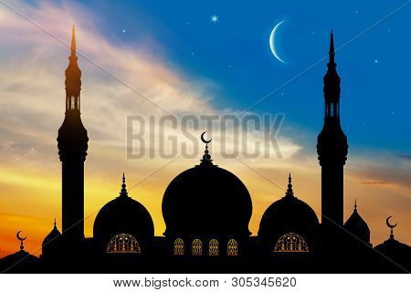 Arabic, Asia, Background, Beautiful, City, Crescent, Culture, Dark, Dome, Dusk, East, Eastern, Eveni