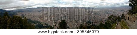 A Panoramic View Of The South American City Of Bogotá