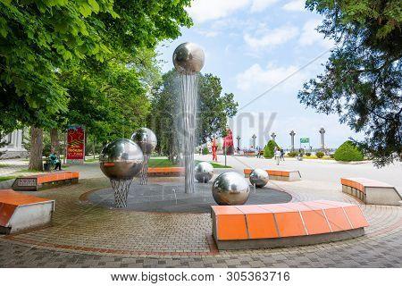 Anapa, Russia - May 13, 2019: Fountain