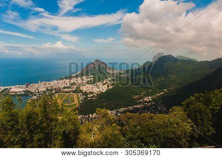 Rio De Janeiro, Brazil: Panorama Of Rio De Janeiro Seen From Corcovado Mountain In Rio De Janeiro
