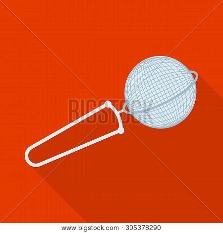 Vector Design Of Strainer And Tea  Symbol. Collection Of Strainer And Tool  Stock Vector Illustratio