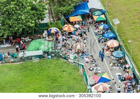 Singapore-jun 24 2017:culture Street Market Sungei Road Thieves Market