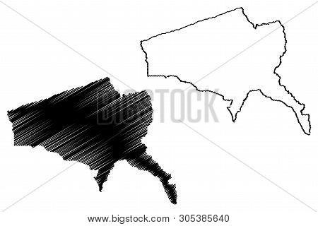 Tete Province (provinces Of Mozambique, Republic Of Mozambique) Map Vector Illustration, Scribble Sk