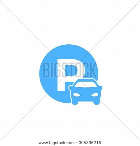 Car Parking Vector Roadsign, Eps 10 File, Easy To Edit