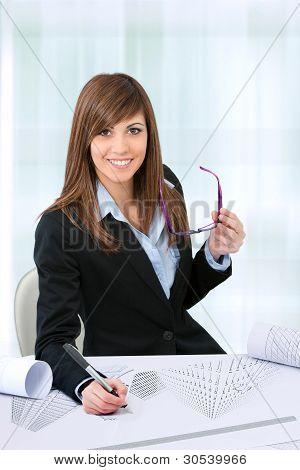 Portrait Of Female Office Worker.