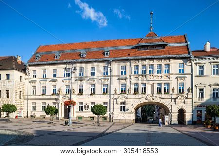 Banska Bystrica, Slovakia - August 06, 2015:kammerhof House In Banska Bystrica, Slovakia. Currently