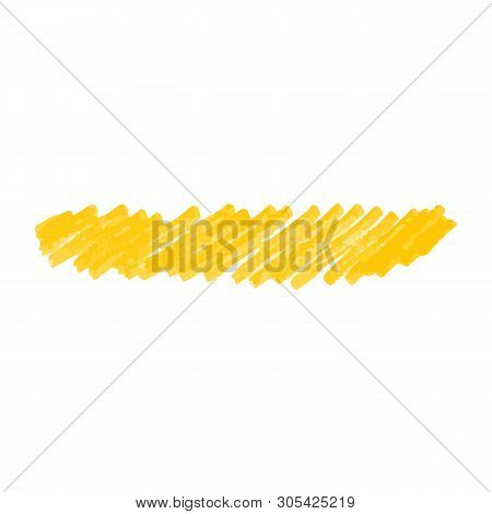 Crayon Or Paint Markers Doodle Splotches Vector Illustration Isolated On White..