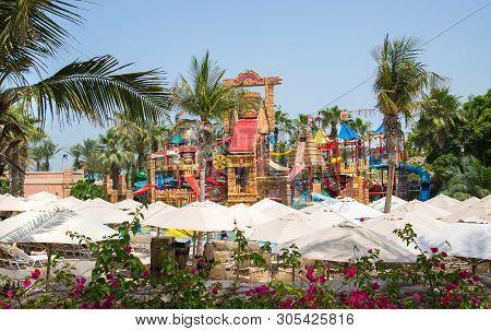Dubai, Uae, United Arab Emirates - 28 May, 2019: Atlantis Aquaventure Water Park Locates On The Palm