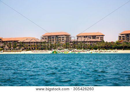 Dubai, Uae, United Arab Emirates - 29 May, 2019: Sofitel On The Palm Jumeirah Hotel And Beach With P