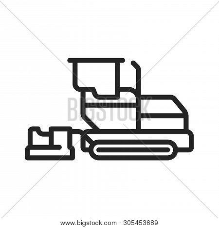 Asphalt Paver Icon Isolated On White Background. Asphalt Paver Icon In Trendy Design Style. Asphalt