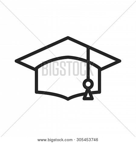 Academic Graduation Cap Icon Isolated On White Background. Academic Graduation Cap Icon In Trendy De