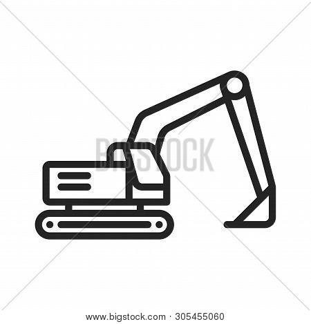 Excavator Icon Isolated On White Background. Excavator Icon In Trendy Design Style. Excavator Vector