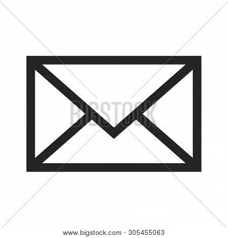 Email Envelope Icon Isolated On White Background. Email Envelope Icon In Trendy Design Style. Email