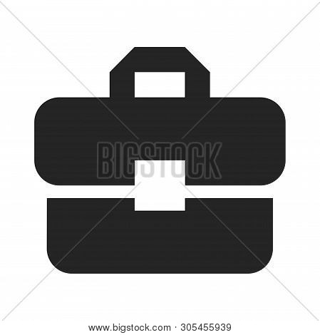 Briefcase Icon Isolated On White Background. Briefcase Icon In Trendy Design Style. Briefcase Vector