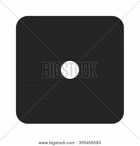 Dice Number One Icon Isolated On White Background. Dice Number One Icon In Trendy Design Style. Dice