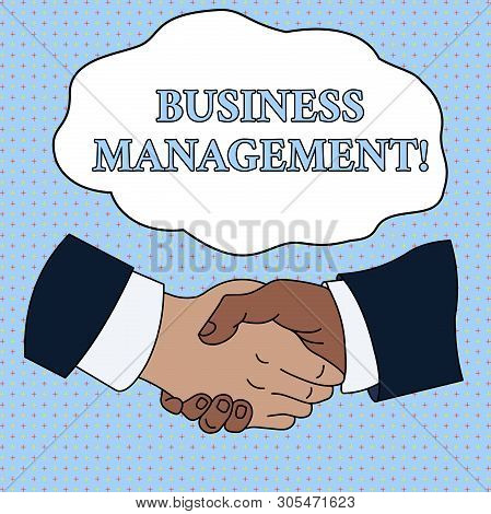 Word Writing Text Business Management. Business Concept For Overseeing Supervising Coordinating Busi