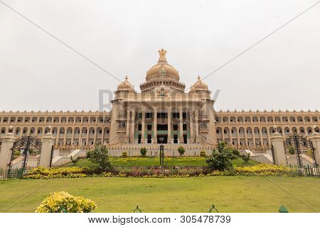Vidhana Soudha Is The Seat Of Karnatakas Legislative Assembly Located In Bengaluru, India.