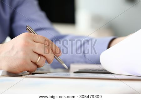 Business Financing Accounting Banking Concept. Businessman Doing Finances Calculate Cost Of Real Est