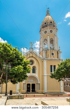 View At The Church Of San Francisco Asis In Old District (casco Viejo) In Panama City, Panama